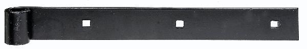 Penture droite noire 400mm Ø14mm 35x5mm