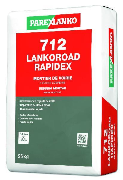 Mortier de scellement de tampon 712 LANKOROAD RAPIDEX sac 25Kg