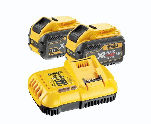 Batterie FLEXVOLT 18/54V 3/9Ah pack 2 + chargeur rapide