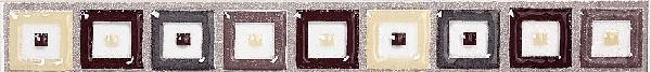 Listel CAPPUCCINO multicolor xenon 3cm x25cm