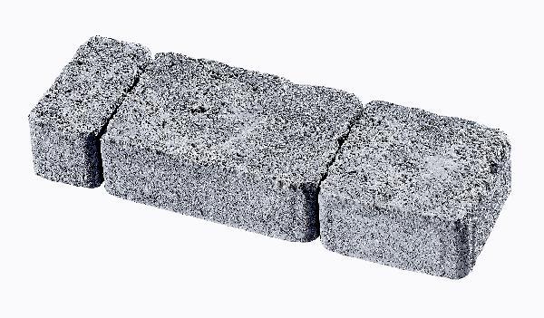 Pavé TEPIA martelé multiformat gris nuancé T5