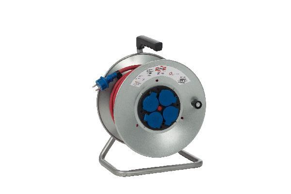 Enrouleur 4 prises HO7RN-F 3G 2,5mm² LES INDISPENSABLES 33m métallique
