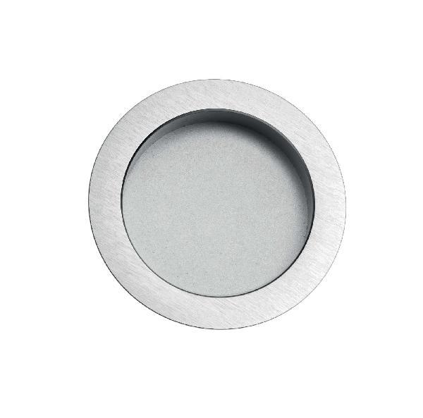 Kit poignée ronde SCRIGNO sans serrure chromé satiné