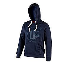 Sweat-shirt HOOD GRAPHIC bleu foncé avec capuche T.XL