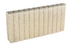 Bordurette RONDIN Ep.6x50cm H.20cm ton pierre