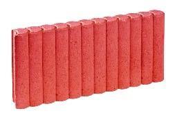 Bordurette RONDIN Ep.6x50cm H.20cm rouge