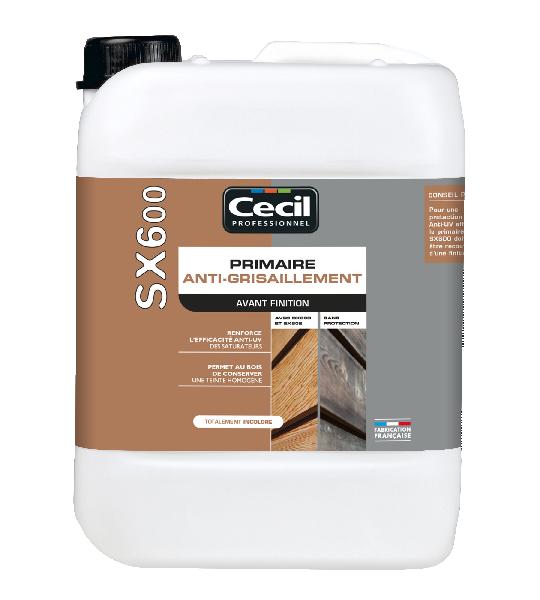 PRIMAIRE ANTI-GRISAILLEMENT BOIS EXTERIEURS SX600 INCOLORE 5L