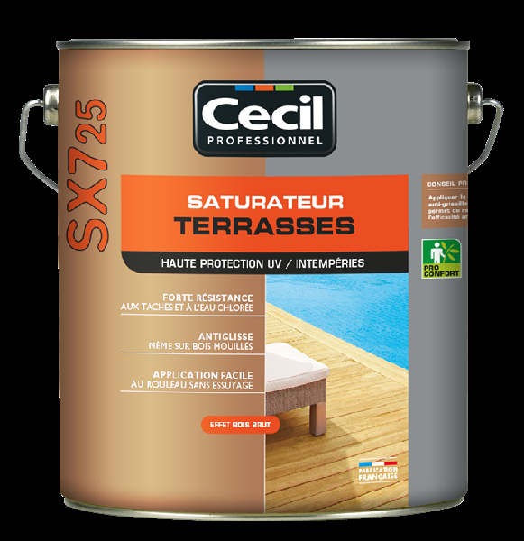 Saturateur terrasse SX725 phase aqueuse mat naturel 5L
