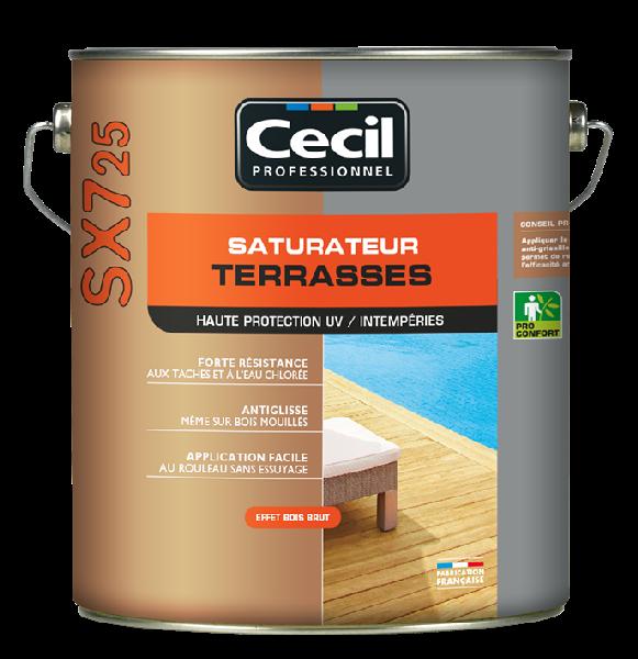 Saturateur terrasse SX725 phase aqueuse mat teck 5L