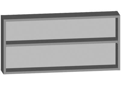 Meuble haut niche ouverte 1 étagère chêne sanremo 60,3x21,6x14,5cm