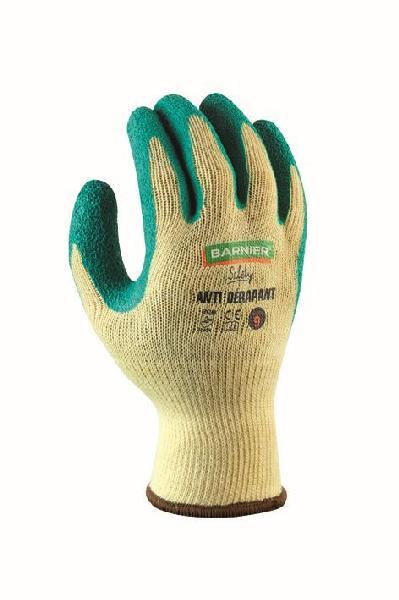 Gants anti-dérapant polyester enduit latex jaune/vert T.10 vrac