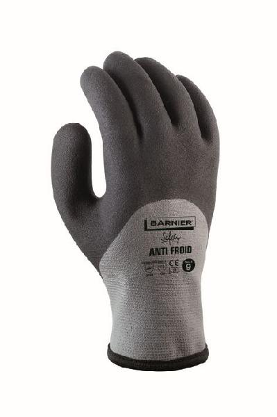 Gant anti-froid nylon/acrylique gris/noir T.10