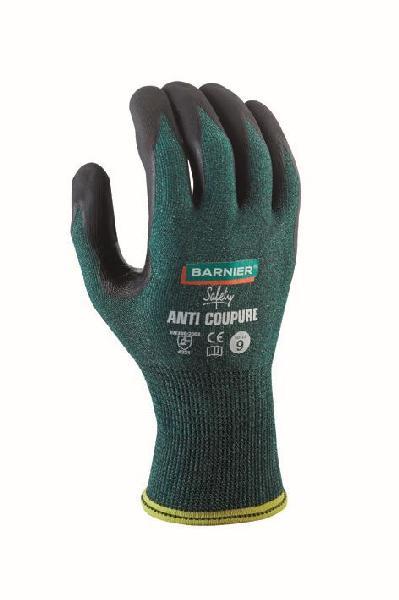 Gants anti-coupure mousse nitrile vert/noir T.9