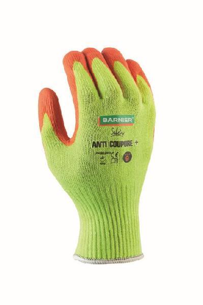 Gants anti-coupure + mousse nitrile jaune/orange T.10