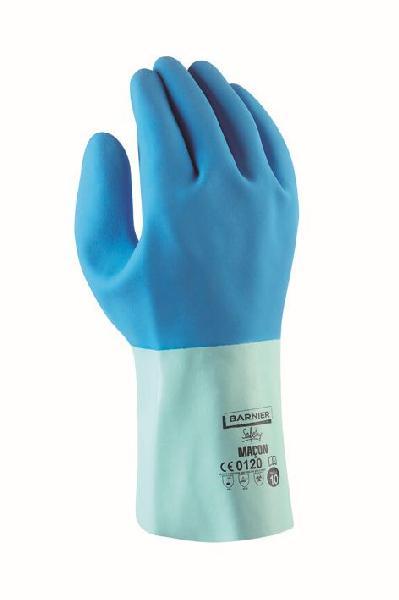 Gants maçon coton/latex bleu T.10