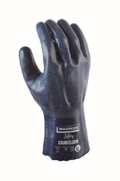 Gants carreleur nylon/latex bleu T.10
