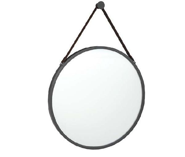 Miroir rond STEEL noir 55,5 cm