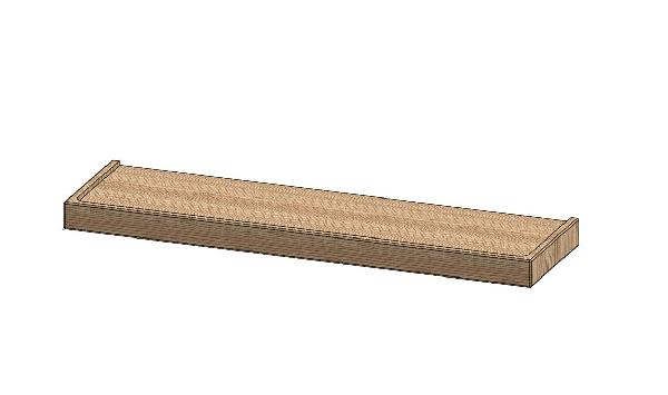 Etagère STEEL hêtre lamina 60x3,5x16,5cm