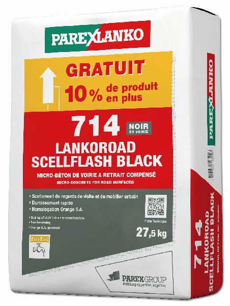 Microbéton scellement tampon 714 LANKOROAD SCELLFLASH black 25Kg +10%