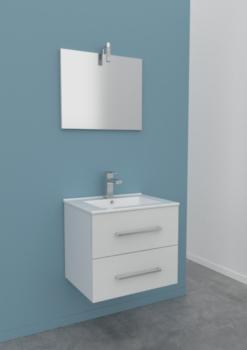 Meuble salle de bain CELIA blanc 60cm