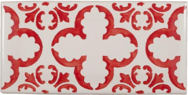 faience carreaux m tro metro fleur rouge 7 5x15cm ep 7 5mm. Black Bedroom Furniture Sets. Home Design Ideas