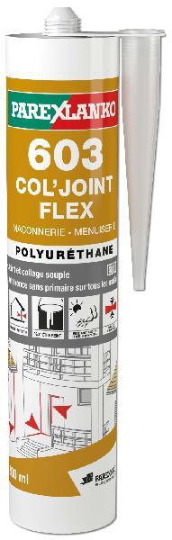Mastic COL JOINT FLEX 603 PU gris cartouche 300ml