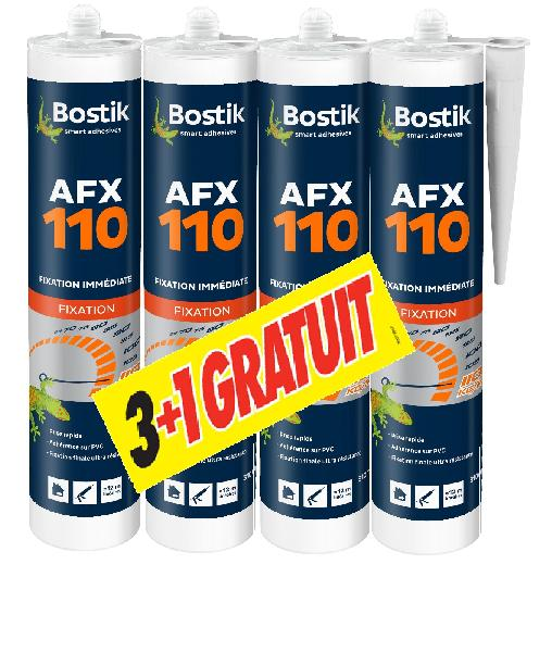 Mastic de fixation AFX 110 lot 3 + 1 gratuit 310ml