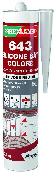 Mastic 643 BATI silicone blanc cartouche 300ml