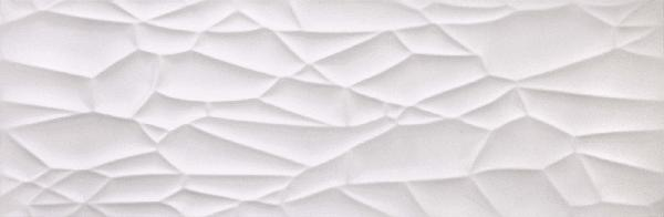 Faïence décor mojave GLACIAR blanc rectifié brillant 30x90cm Ep.12mm