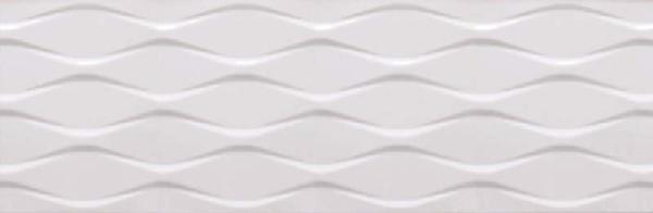 Faïence décor nude GLACIAR blanc rectifié brillant 30x90cm Ep.12mm