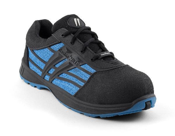 Chaussures de sécurité basses PLUTON noir/bleu S1P SRC T.45