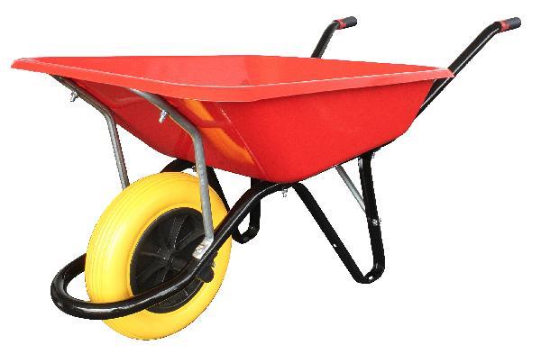 Brouette pro 100L LES INDISPENSABLES roue souple increvable rouge