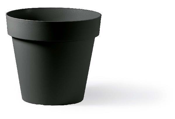Pot rond CLEO anthracite Ø40cm polyéthylène H.35,5cm