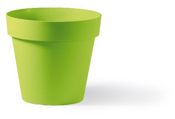 Pot rond CLEO anis Ø40cm polyéthylène H.35,5cm