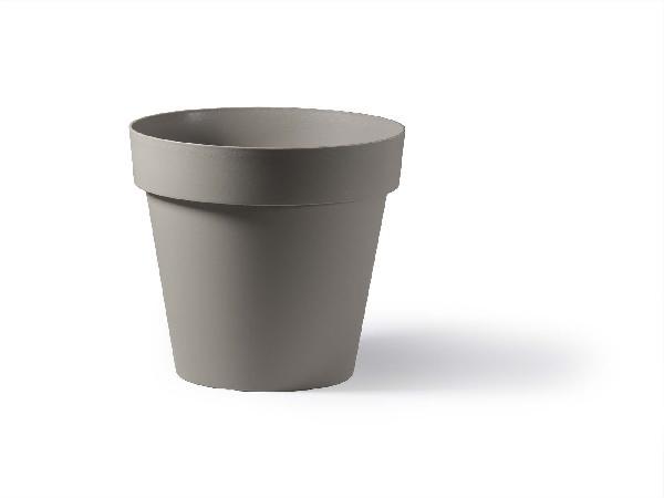 Pot rond CLEO taupe Ø40cm polyéthylène H.35,5cm