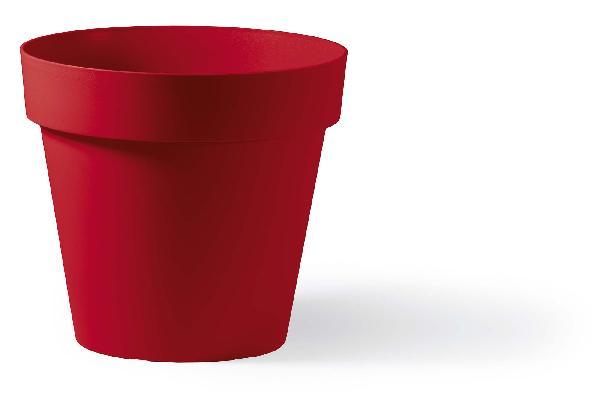 Pot rond CLEO rouge Ø40cm polyéthylène H.35,5cm