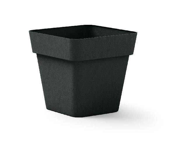 Pot carré CLEO anthracite polyéthylène 40x40cm H.39cm