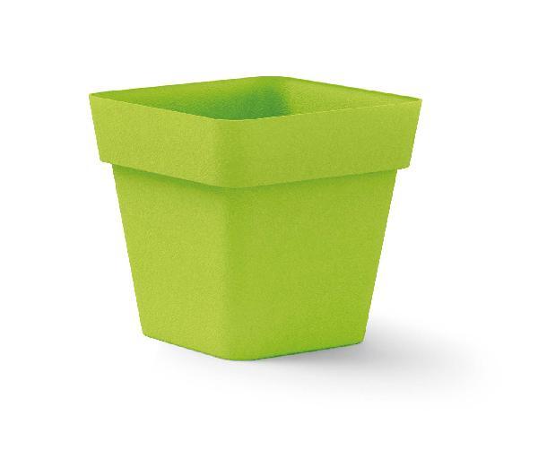 Pot carré CLEO anis polyéthylène 40x40cm H.39cm