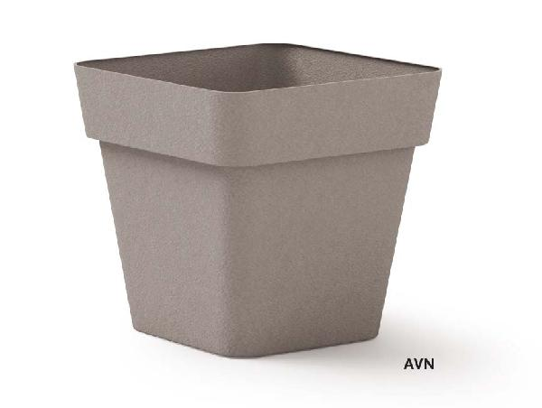 Pot carré CLEO taupe polyéthylène 40x40cm H.39cm