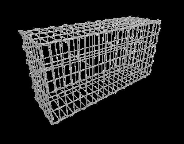 Kit gabion vide 100x30x50cm maille 10x5cm Ø fil 4,5mm montage spirales