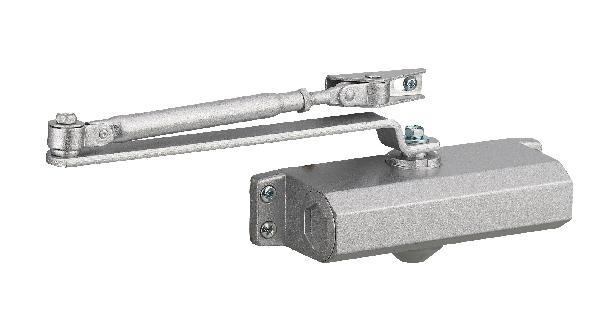 Ferme-porte hydraulique argent Eco force-3 pour porte de 60kg