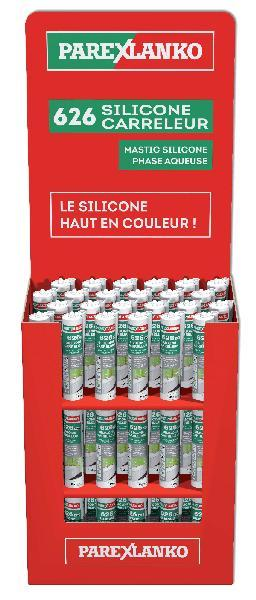 Mastic 626 CARRELEUR silicone noir box 72 300ml