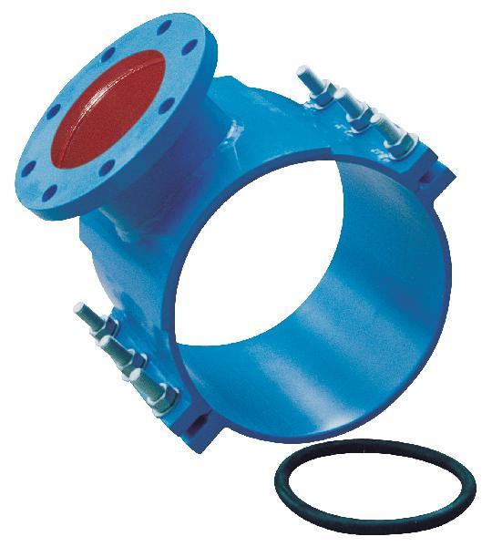 Collier acier de prise DN100 Ø118-126 avec tubulure bride DN060 PN30
