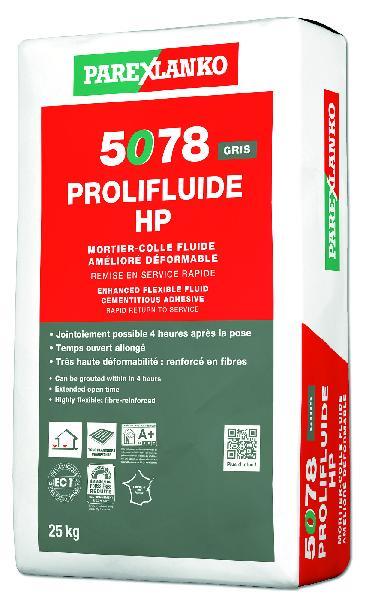 Mortier colle carrelage PROLIFLUIDE CHRONO 5078 sac 25kg C2S1 EG - SAMSE