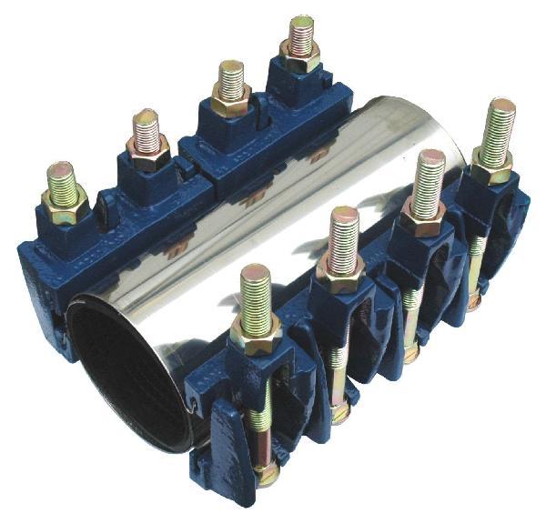 Manchon réparation inox mâchoire fonte 254mm Ø114-124mm réf :MR2