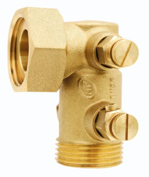 Clapet laiton 510EPB coudé DN 15 58mm 20/27 NF