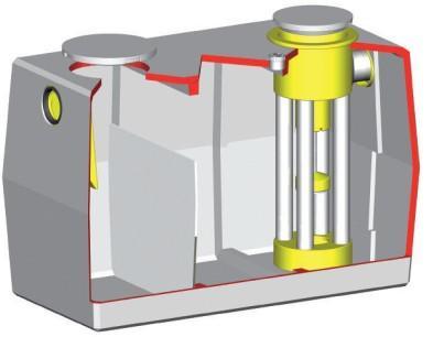 Séparateur béton allégé à hydrocarbures HD1B avec débourbeur 1L/S