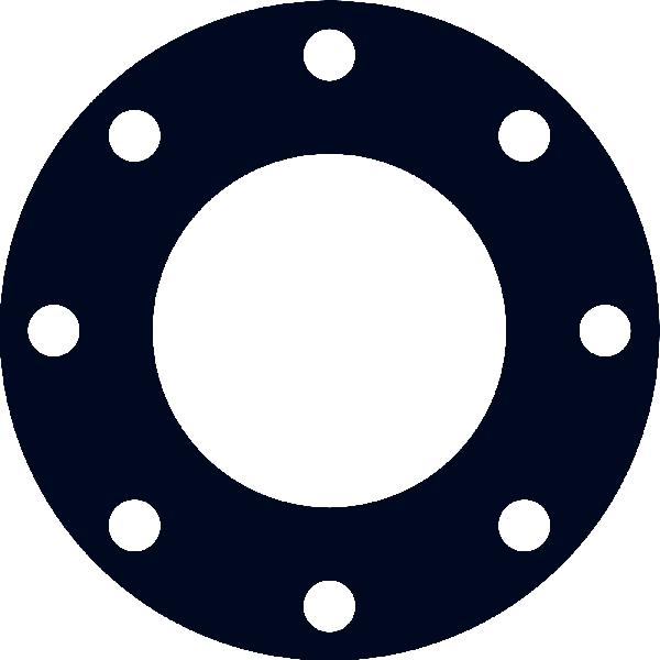 Joint plat EPDM 80 Shore DN040 ISO PN10-16 16bar 4mm avec ACS