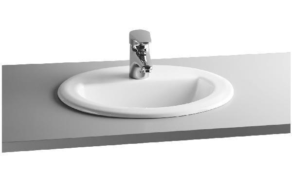 Vasque à encastrer ARKITEKT 52x44,5cm céramique Blanc ovale NF