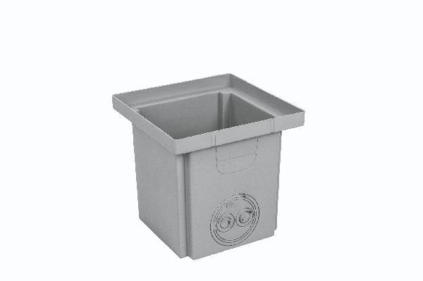 Regard PP PLUVAL gris H.400cm 410x410cm